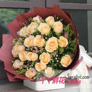 容颜永驻:鲜花19枝香槟玫瑰