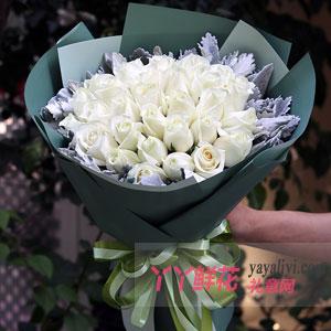 女孩子生日送33朵白玫瑰