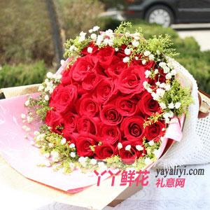 33支紅玫瑰鮮花速遞