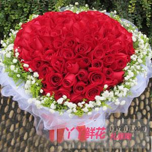 情有独钟-鲜花速递99朵红玫瑰