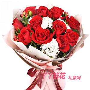 一心一意-鮮花11支紅玫瑰