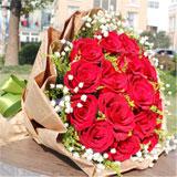 鲜花快递19朵红玫瑰