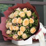 鮮花19枝香檳玫瑰
