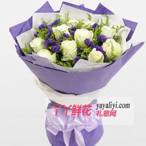 鮮花11枝白玫瑰