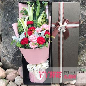 姐姐過生日送康乃馨百合花束好嗎?