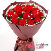 鮮花速遞19支紅色康乃馨