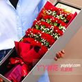 33枝康乃馨红玫瑰生日花篮(单只)