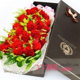 19支紅色康乃馨禮盒