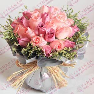 24支粉玫瑰鮮花速遞