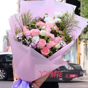 心动的浪漫-鲜花19支戴安娜桔梗搭配