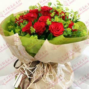 鮮花速遞16支紅玫瑰