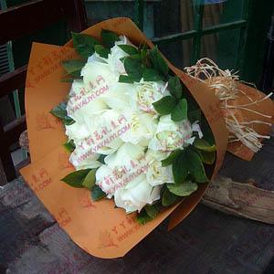 鮮花速遞12支白玫瑰