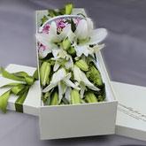 特價16支粉香水百合禮盒鮮花速遞
