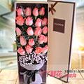 19朵粉玫瑰配满天星礼盒(白色款)