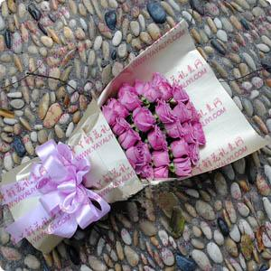 鮮花24支紫玫瑰送花