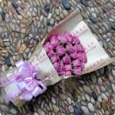 鲜花24支紫玫瑰送花
