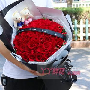 幸福約定-鮮花速遞33支昆明A級紅玫瑰