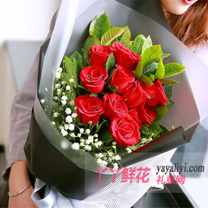 鮮花11支紅玫瑰