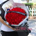 鮮花速遞33支昆明A級紅玫瑰