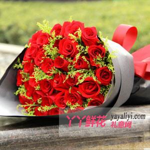 鮮花33支精品紅玫瑰