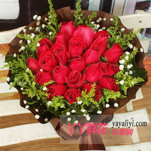 如花绽放-鲜花速递19支红玫瑰