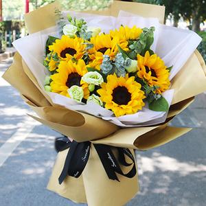 生日送10支向日葵鲜花