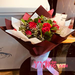 11朵红玫瑰绿叶满天星