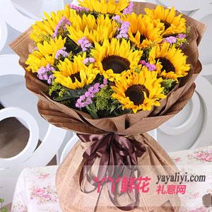 那一種力量-11枝向日葵送長輩鮮花