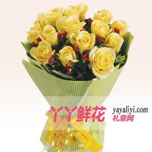 父親節15枝黃玫瑰