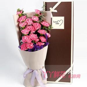 爱的伟大-鲜花22支康乃馨4枝百合