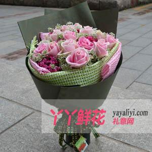 19支瑪利亞粉玫瑰