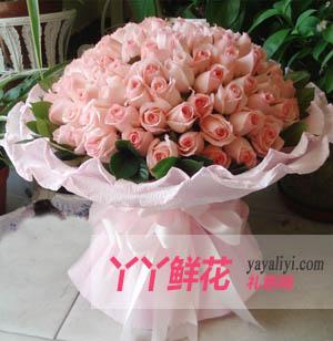 愛的呼喚-鮮花99枝戴安娜粉玫瑰