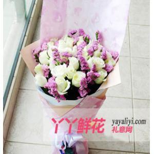 鮮花速遞24支白玫瑰