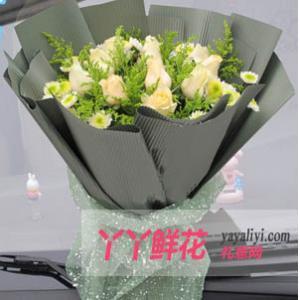 鮮花11枝香檳玫瑰