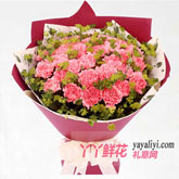 鲜花33枝粉色康乃馨