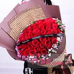 33朵紅玫瑰相思梅