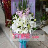 鲜花14枝白百合
