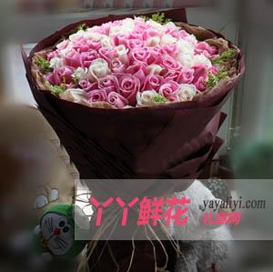 温柔-99枝混色玫瑰