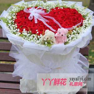 鲜花99朵红玫瑰求爱表白