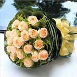 老婆生日送花19枝香檳玫瑰