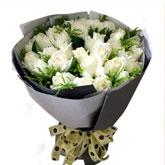 愛人生日送花19枝白玫瑰