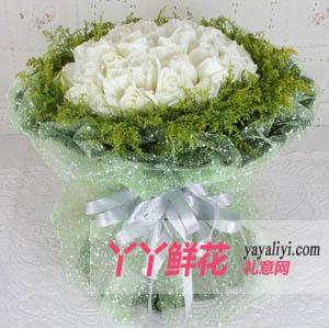 鲜花33支白玫瑰