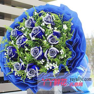 无可比拟的骄傲-鲜花11枝蓝色妖姬
