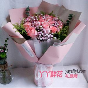 簡單愛 - 鮮花11朵粉玫瑰