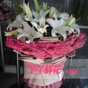 鲜花19枝百合