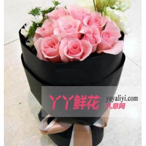 鮮花16枝戴安娜粉玫瑰