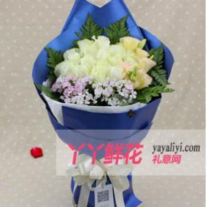 鮮花店20枝白玫瑰