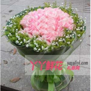 鲜花33支粉玫瑰