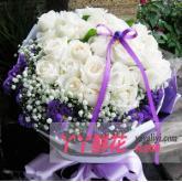 鮮花33枝白玫瑰