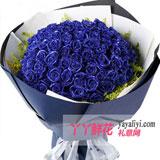 鲜花52枝蓝色妖姬